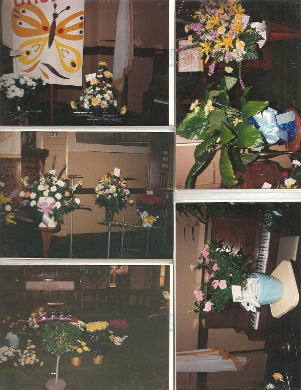 Flowers from funeral.