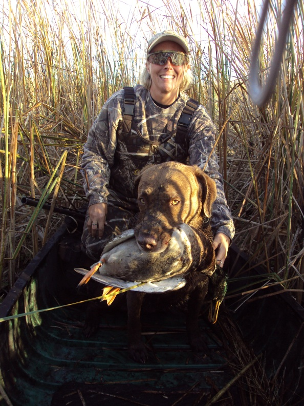 I am a avid hunter, here I am with Norman and our first hen pintail.