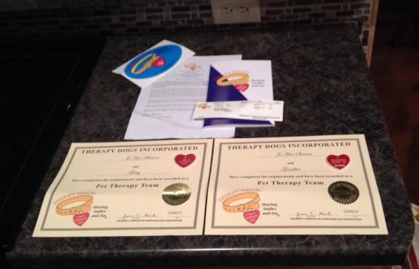 Gambler and Glory's certificates.